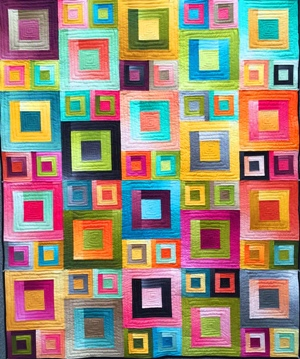 Ombre Squares Pattern